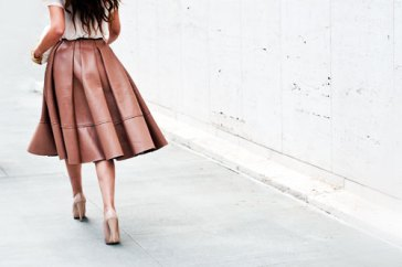 brown-leather-midi-skirt
