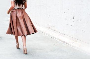 brown-leather-midi-skirt